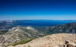 View of Lake Tahoe from the summit of Freel Peak, elevation 10,881.