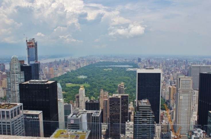 Central Park from Top of the Rock New York City NYC JetSettingFools.com