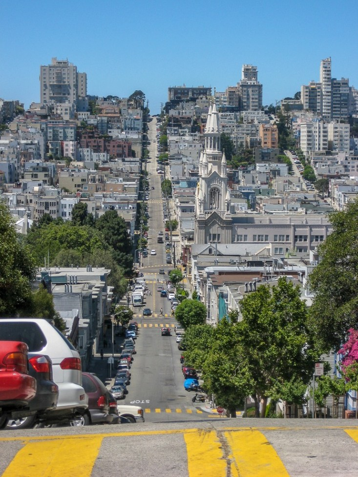 The hills of San Francisco streets