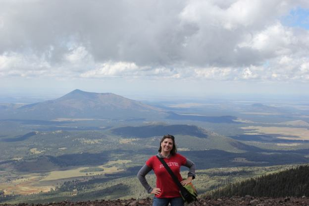 Taking in the views from the top of Agassiz Peak lookout point in Flagstaff, Arizona