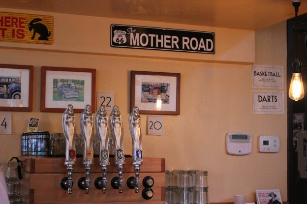 Beer Taps at Mother Road Brewery in Flagstaff, Arizona