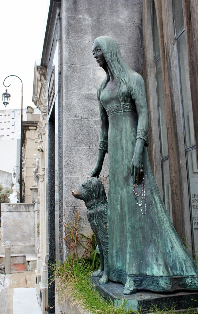 Good Luck dog statue at Recoleta Cemetery in Buenos Aires, Argentina