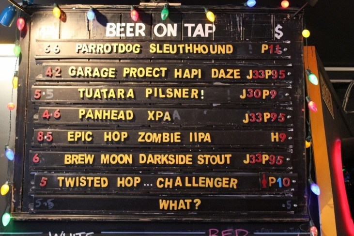 Craft Beer On Tap at Goldings Free Dive Bar in Wellington, New Zealand