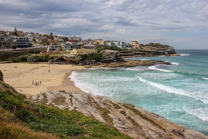 Walking along Tamarama Beach on Bondi to Coogee Coastal Walk in Sydney, Australia