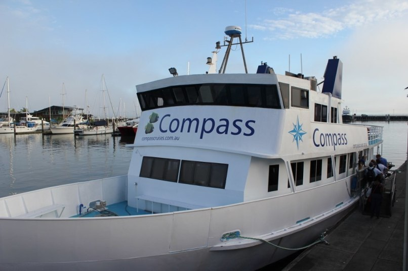 Compass Cruises boat for Great Barrier Reef excursions
