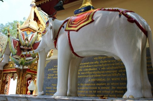 White Elephant statue at Doi Suthep Temple in Chiang Mai, Thailand