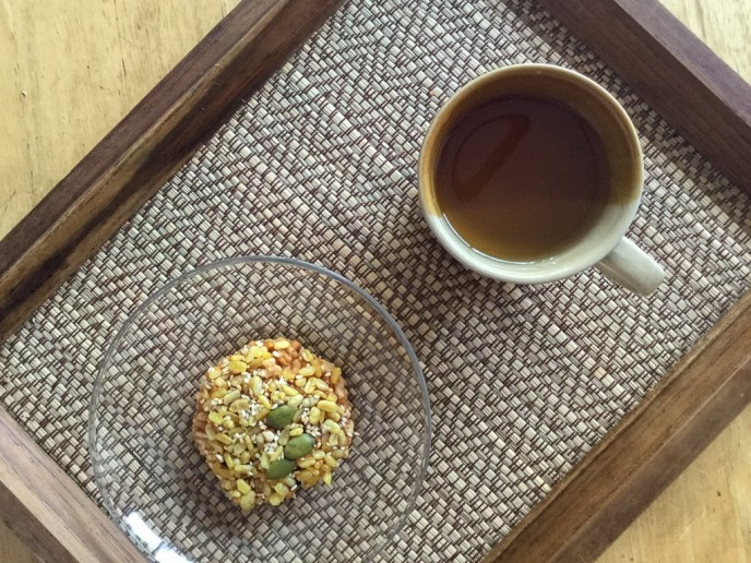 Tea and rice cake at Orn Healing Hands Massage in Chiang Mai, Thailand
