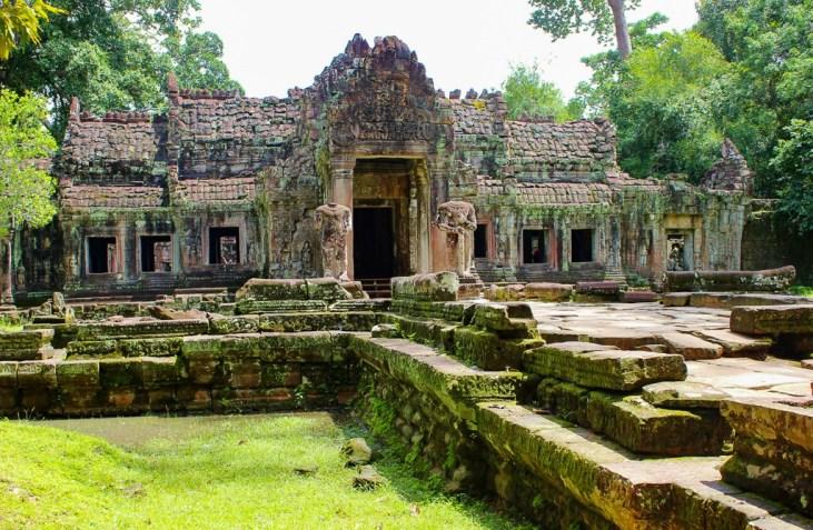 Entrance to Preah Khan at Angkor Park in Siem Reap, Cambodia