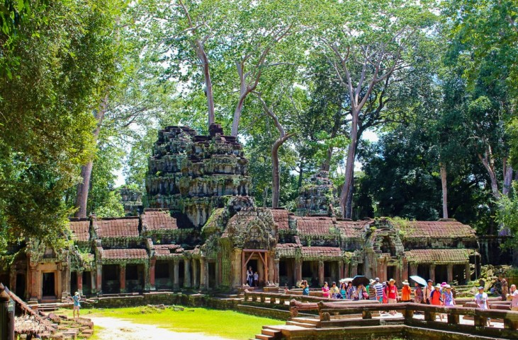 Entrance to Ta Prohm temple at Angkor Park in Siem Reap, Cambodia