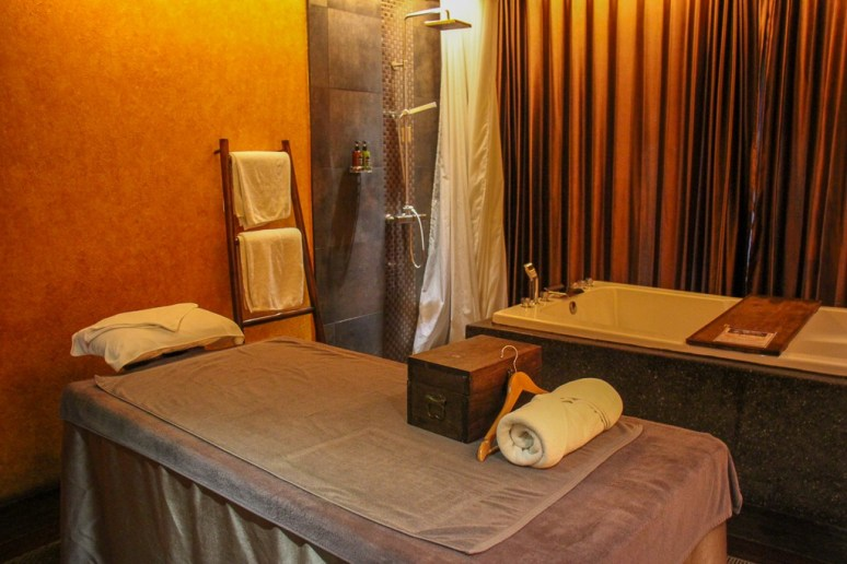 Private massage room at Zira Spa in Chiang Mai, Thailand