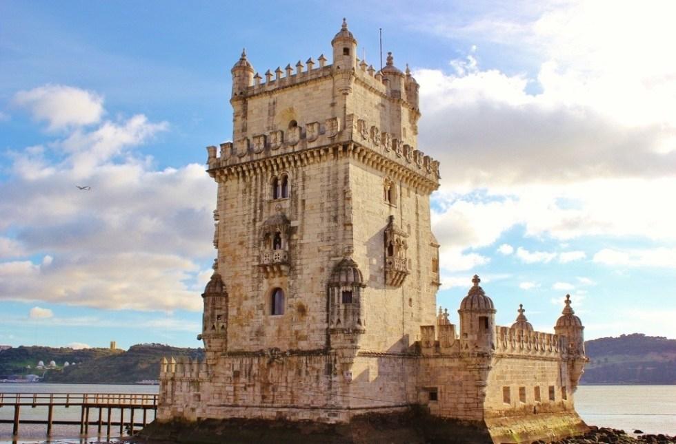 The Belem Tower, Torre de Belem, near Lisbon, Portugal