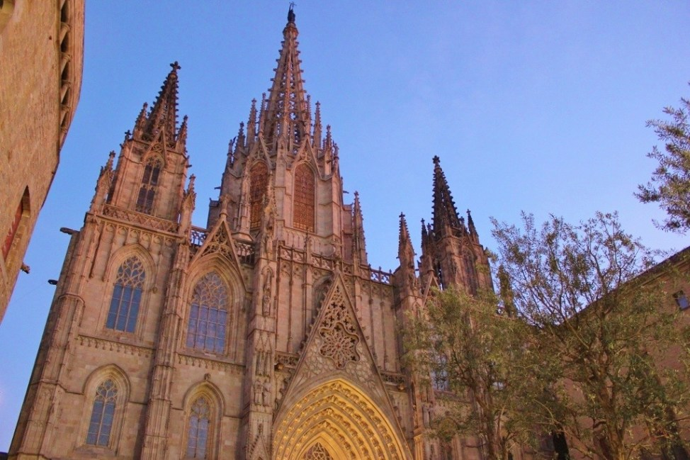 La Catedral Cathedral church in Barcelona, Spain