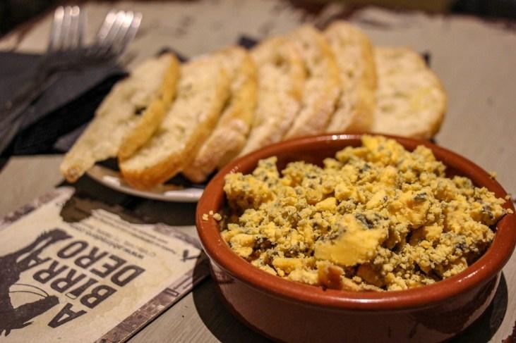 Signature cheese tapas at Abirradero Craft Beer Bar in Barcelona, Spain