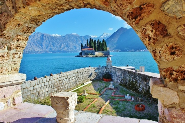 Perast: View from Lady of Our Rock Catholic Church