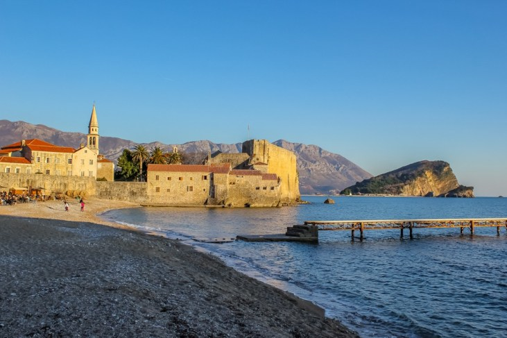 Budva Beach in the off season, Montenegro