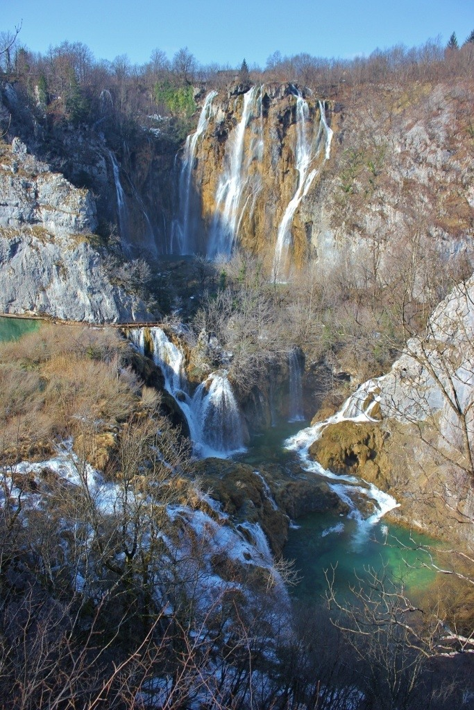 Big Waterfall Plitvice, or Veliki Slap, at National Park in Croatia