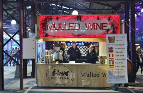 At the Queen Victoria Market Winter Night event mulled wine is on offer