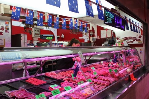 The Queen Victoria Market Meat and Seafood Hall