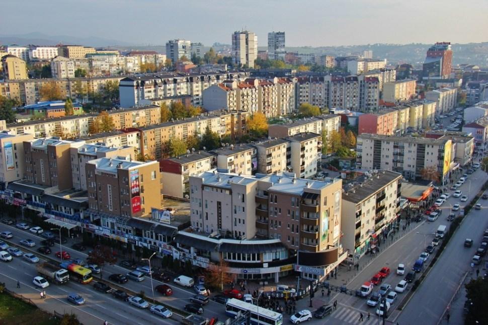 High-rise apartment buildings in Prishtina, Kosovo