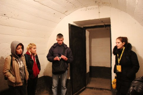 Touring inside of Tito's Bunker on Underground Tour of Belgrade, Serbia