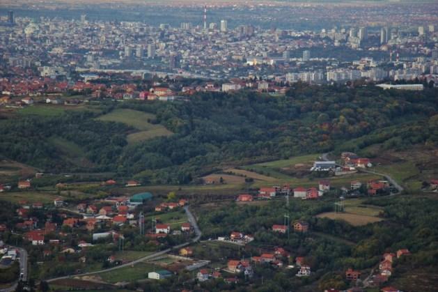 Belgrade city views from Avala Tower, Belgrade, Serbia