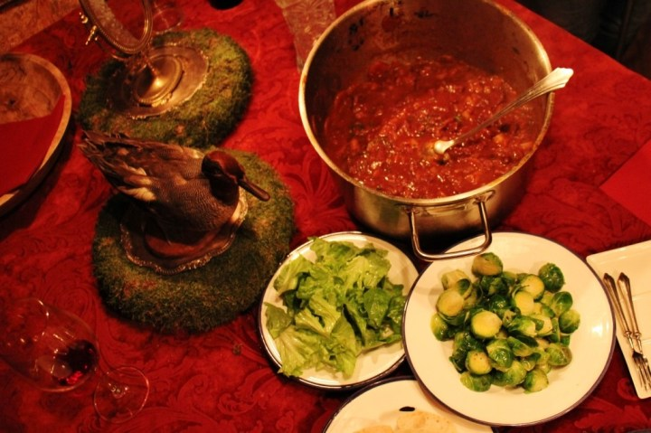 Goulash and vegetable meal by Chef Nenad Komes