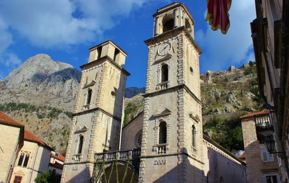 The St. Tryphon Catholic Cathedral in Kotor, Montenegro