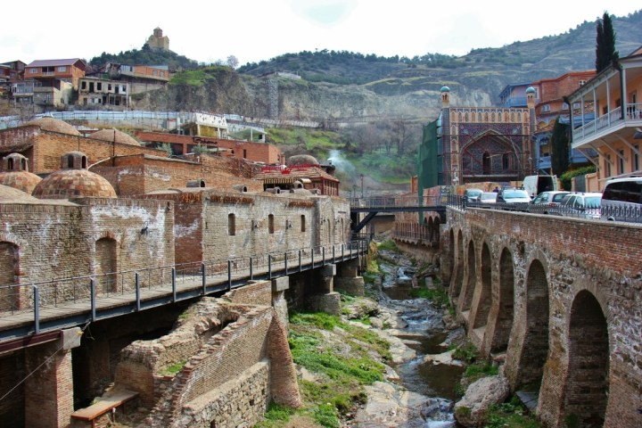 Abanotubani District in Tbilisi, Georgia