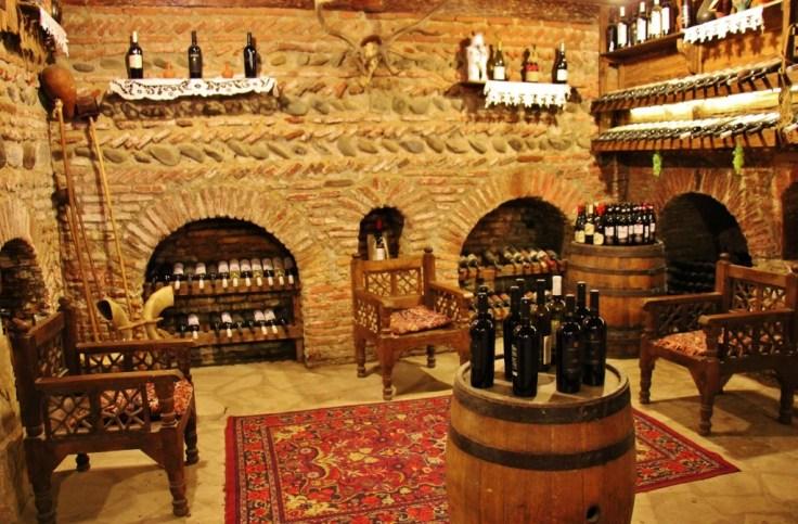 Tasting room at Karalashvili's Wine Cellar, Tbilisi, Georgia