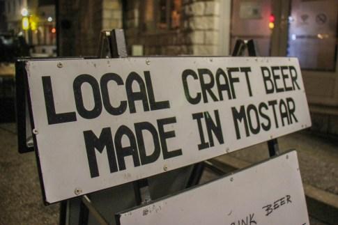 Craft Beer Garden sign in Mostar, Bosnia and Herzegovina