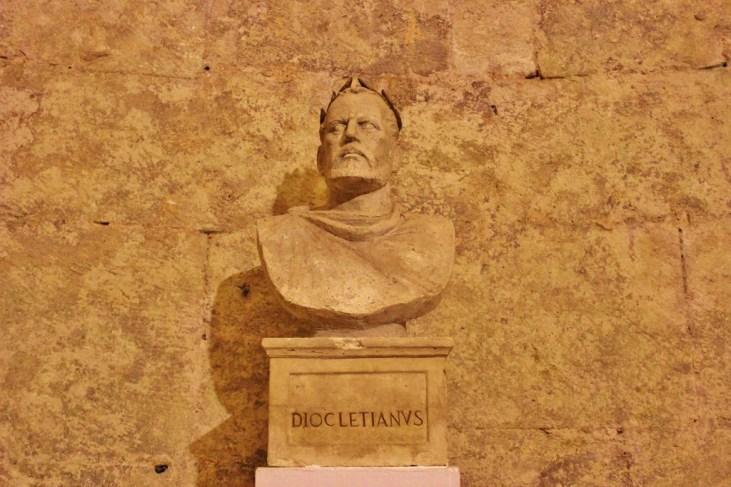 Bust of Diocletian in Split, Croatia