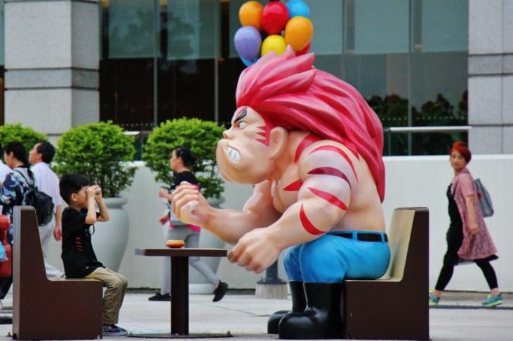 Character statue at Ani-Com Park in Hong Kong