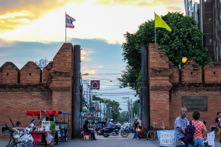 Remaining city gates in Chiang Mai, Thailand