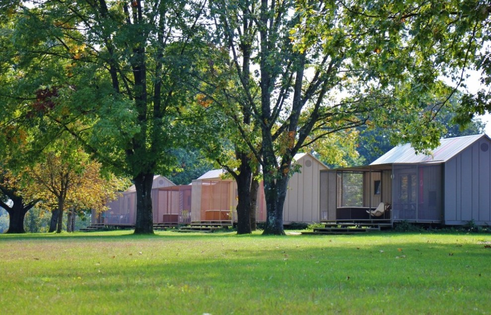 Grounds at Big Berry Glamping Resort in Bela Krajina, Slovenia