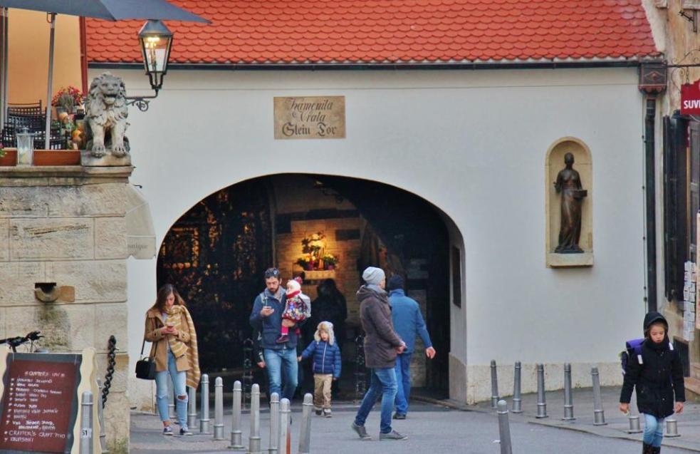 Stone Gate in Gradec, Zagreb, Croatia