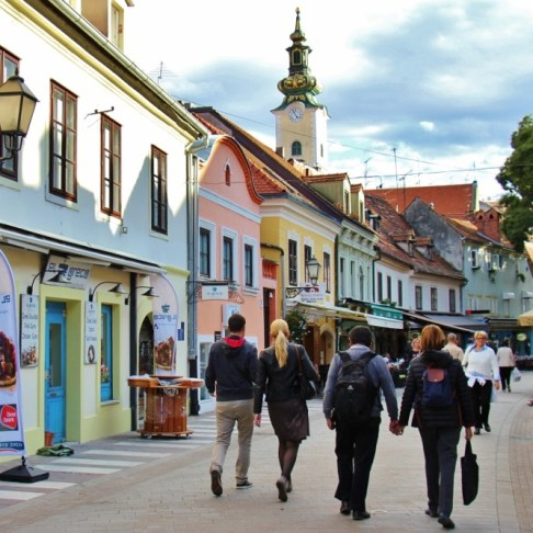 Pedestrian only Tkalciceva Street in Zagreb, Croatia