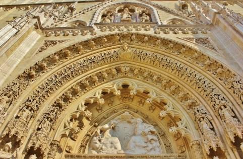 Ornate facade of Zagreb Cathedral in Zagreb, Croatia