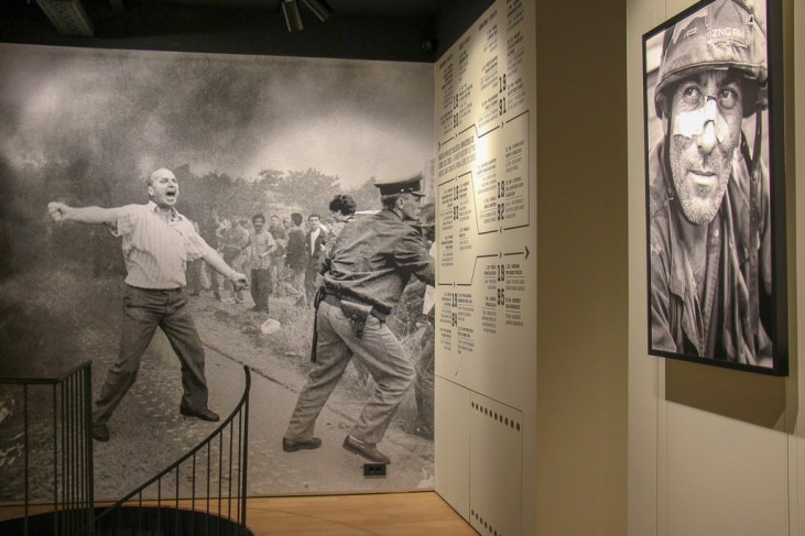 Photo exhibit at the Image of War Museum in Zagreb, Croatia