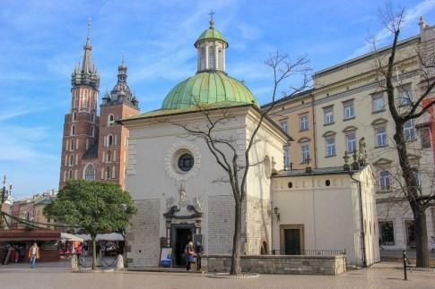 St. Adalbert's Church on Main Square in Krakow, Poland