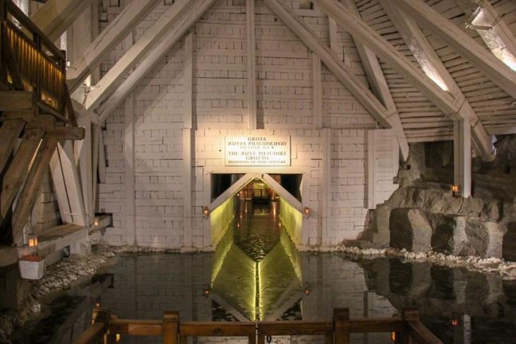 Underground Lake in Wieliczka Salt Mine in Krakow, Poland