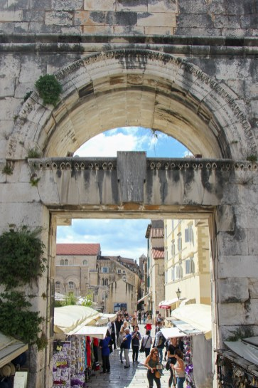 Silver Gate entrance to Diocletian's Palace in Split, Croatia
