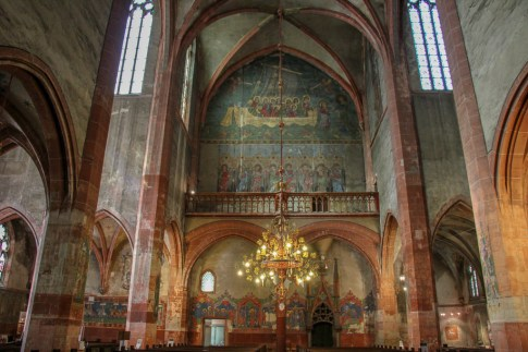 14th Century frescoes at St. Pierre le Jeune Protestant Church in Strasbourg, France