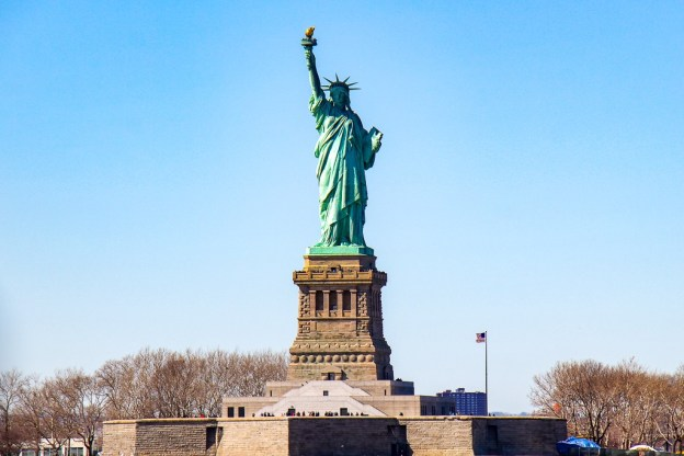 Statue of Liberty from Staten Island Ferry, New York City, New York