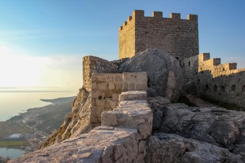Sunlit Fortress, Omis, Croatia
