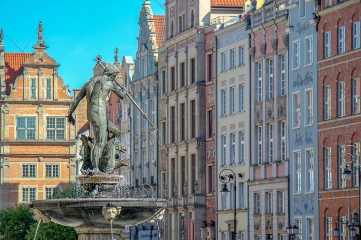Neptune Fountain on Dlugi Targ in Gdansk, Poland