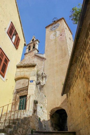 sights of the old town, Omis, Croatia