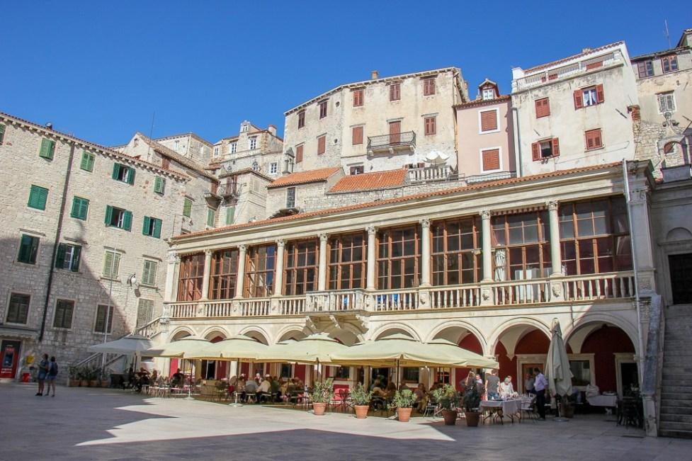 Restaurants, Old Town, Sibenik, Croatia