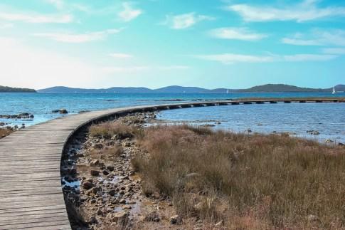 how to get on the Walking path to St Nicholas Fortress, Sibenik, Croatia