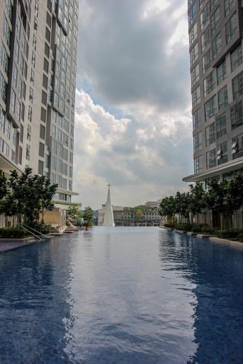 Infinity Edge Pool at The Robertson Residences in Kuala Lumpur, Malaysia