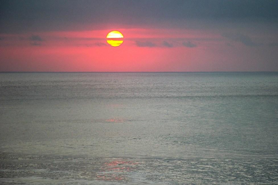 Perfect sunset in Uluwatu, Bali, Indonesia